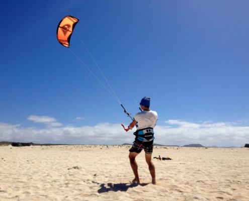 kite lesson fuerteventura
